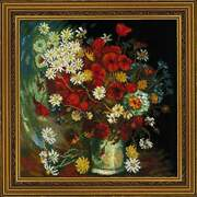 Counted Cross Stitch Kit Riolis - Vase With Flowers Painting By V. Van Gogh