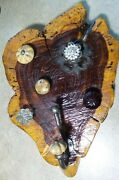 Unique Semi Heart Shaped Wood Glass Knobs Vintage Wall Hook Jewelry Display