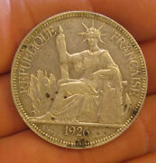 French Indo-china - 1926 Large Silver Piastre