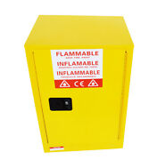 12 Gallon Thick Safety Storage Cabinet For Flammable Liquid Steel Warning Label