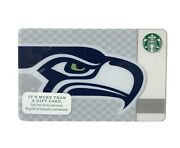 Starbucks Seattle Seahawks 2013 Gift Card. Rare Limited Release. Mint Condition