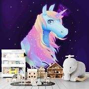 3d Colorful Light Unicorn Wallpaper Wall Mural Removable Self-adhesive Sticker