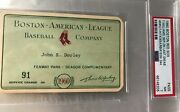 Ted Williams Last Gm/hr Psa Ticket/pass 1960 Nm Boston Red Sox At Fenway Park
