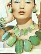 Rebecca Collins Vtg Necklace And Earrings Signed. Photographed On Nm Catalog Page