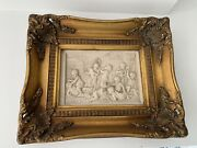 Two Russian Art-marble High Relief Plaques St.petersburg 1882