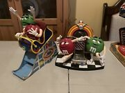 Mandm 2002 Wild Things Roller-coaster And Rock N Roll Diner Jukebox Candy Dispenser
