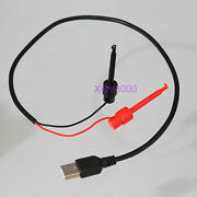 Dc Power 3ft Φ4mm Flexible Cable Current 3a Usb A To Test Hook Clip Probe Leads