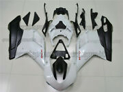 Injection Plastic Pearl White Black Fairing Fit For 07-2012 Ducati 1098 848 1198