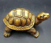 Old China Collectible Culture Delicate Decor Old Brass Dragon Turtle
