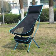 Barbecue Collapsible Moon Chair Ultralight Extended Home Outdoor Oxford Cloth