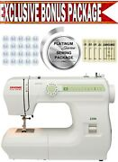 Janome 2206 New Home Sewing Machine W/ Exclusive Platinum Series Sewing Package