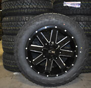 20x9 Ion 141 Black Wheels Rims 32 At Tires Package 6x5.5 Chevy Suburban Tahoe