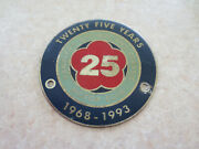 1968 - 1993 Twenty Five Year Canberra Antique And Classic Motor Club Car Badge