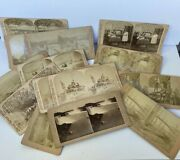 Antique 1890s Stereoview Pictures, Lot Of 15 Cards, Reduced Price