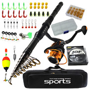 Telescopic Fishing Rod Combo Carbon Travel Rod With Spinning Reel Fishing