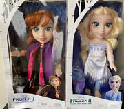 """Disney Frozen 2 Elsa And Anna Doll Snow Queen Elsa Ionic Outfit 14"""" Tall ❄️"""