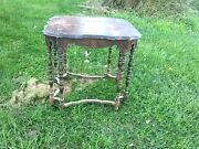 Antique 1800`s Hall Library Living Room Lamp Table Nr Eastlake Style As Found