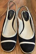 Cole Haan Wedges Size 7 - Navy And White