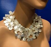 Vintage Patricia Von Musulin Mother Of Pearl Mop Sterling Necklace
