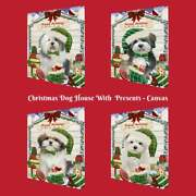 Christmas Dog Cat With Presents Pet Photo Canvas Wall Art Dandeacutecor 24x36 Inches