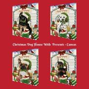 Christmas Dog Cat With Presents Pet Photo Canvas Wall Art Décor 16x20 Inches