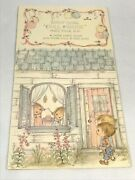 Vintage Betsey Clark Party Favor Doll House Paper Dolls Hallmark Punch Out New