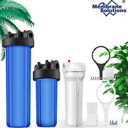 Whole House Big Blue Water Filter Housing Multi-stage Ro Water Purifier Filter