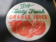 Discontinued Retro Planet Orange Juice Sign Vintage Dinner Style Sign Repro.