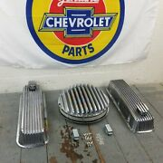Chevy Bbc 14 Air Cleaner Engine Dress Up Kit Valve Covers Pcv Breathers 454 496