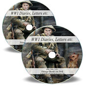 420 Rare World War 1 Personal Diaries And Letters On 2 Dvds - Ww1 Field Books M4