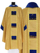 Gold Gothic Chasuble With Stole Christmas Vestment Casulla Navidad 759agn61g