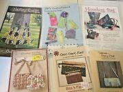 Lot Of 6 Purse Patterns Sewing Humbug, Glasses, Abbey Lane, Wallet Unused