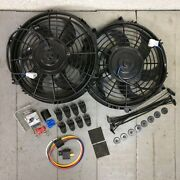 1935-48 Ford Dual 10 1019 Cfm Cooling Fan Adj Temp Switch Kit Fordor Coupe 239