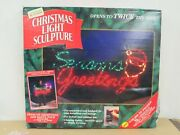 Seasons Greetings Led Rope Light With Stylized Santaand039s Face 47 X 27