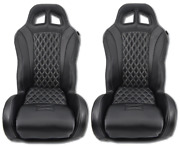 Black Diamond Stitch Carbon Canam X3 Max Turbo R Suspension Seats By Aces Racing