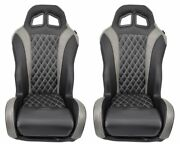 Grey Suspension Seats For Canam Maverick X3 Pair By Aces Racing