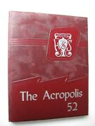 The Acropolis 1952 Yearbook Scotia, Ny High School Padded Hc - E1