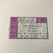 Bob Seger And The Silver Bullet Band Concert Ticket Stub Vintage January 5 1987