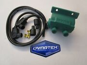 Bsa Twin Dyna 3 Ohm Dual Output Hi Voltage Coil Dc6-1 And Taylor Plug Leads