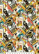 Lined Valance 42 X 15 Wizard Of Oz Fabric Movie Posters Dorothy Tin Man Toto
