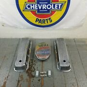 Chevy Bbc 12 Finned Air Cleaner Valve Covers Engine Dress Up 427 454 Big Block