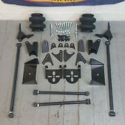 Triangulated Rear Suspension Four 4 Link Kit For 34-53 Olds W/2600lb. Bags