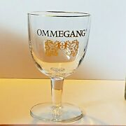 Brewery Ommegang Gold Rimmed Stemmed Beer Glass 6 1/8 Tall 12 Oz
