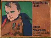 Newsweek Napoleon Bringand039em Up Short By Charles Santore 1966 Poster 157x117cm