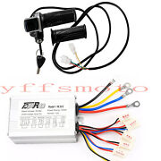 48v 1000w Electric Bicycle Brush Motor Controller Throttle Grip Atv Quad Scooter