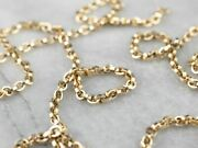 Vintage 14k Gold Cable Chain Necklace