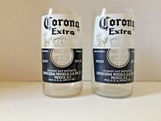 Corona Extra Beer Glasses Made From Bottles Lot Of 2