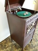 Thomas A. Edison Antique Phonograph Needs Repair/not Working Includes Records