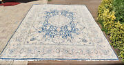 Turkish Rug 113and039and039x150and039and039 Vintage Light Muted Color Rug Oushak Rug 290x383cm 9x12
