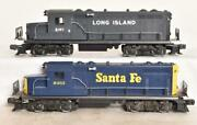 Two Lionel Gp-20 Diesel Engines Santa F Epowered And Long Island Dummy